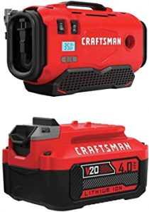 CRAFTSMAN V20 Tire Inflator with Lithium-Ion Battery